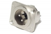 Neutrik XLR-MALE 3-PIN PANEL MOUNT SOCKET