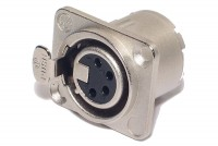 Neutrik XLR-FEMALE 4-PIN PANEL MOUNT SOCKET