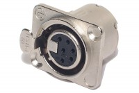 Neutrik XLR-FEMALE 6-PIN PANEL MOUNT SOCKET