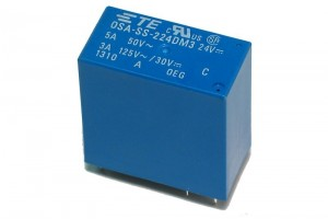 PCB RELAY DPST-NO 3A 24VDC