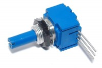 POTENTIOMETER with PLASTIC CONDUCT 6mm 0,5W LIN 100kohm