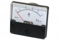 ANALOGUE PANEL METER CURRENT 0-5A AC/DC