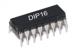 TTL-LOGIC IC LATCH 74259 HC-FAMILY DIP16