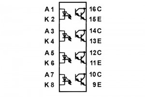 OPTOCOUPLER PC845 DIP16