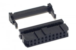20P FLAT CABLE CONNECTOR FEMALE R2,54
