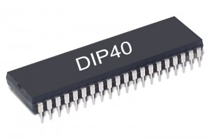 Microchip MIKROKONTROLLERI PIC16F877 20MHz DIP40