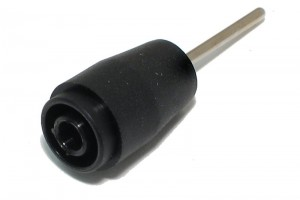 SAFETY BANANA PIN SOCKET 4/2mm 25A 1kV BLACK