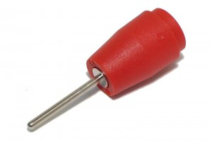 SAFETY BANANA PIN SOCKET 2/4mm 25A 1kV RED