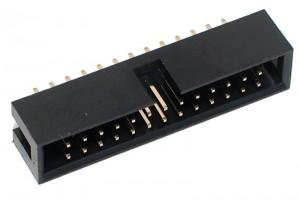 26P SHROUDED PIN HEADER 2x13 R2,54