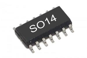 TTL-LOGIC IC NAND 7400 HCT-FAMILY SO14