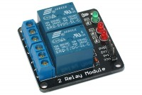 RELAY MODULE WITH TWO RELAYS 5VDC