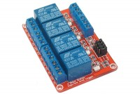 RELAY MODULE WITH 4 OPTO-ISOLATED RELAYS 5VDC