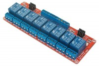 RELAY MODULE WITH 8 OPTO-ISOLATED RELAYS 5VDC