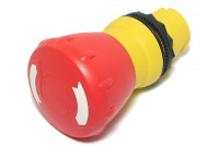 MUSHROOM SHAPED RED PUSH-BUTTON KNOB FOR SWITCHING ELEMENT