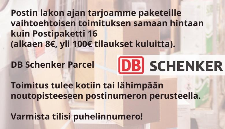 Pakettitoimitukset DB Schenker postin lakon ajan
