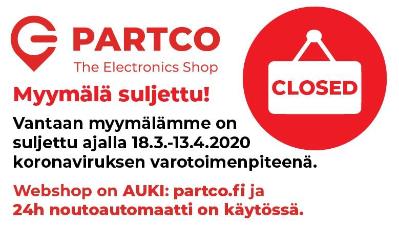 Partco myymälä suljettu!