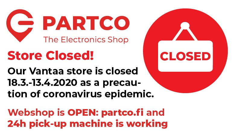 Partco store is closed!