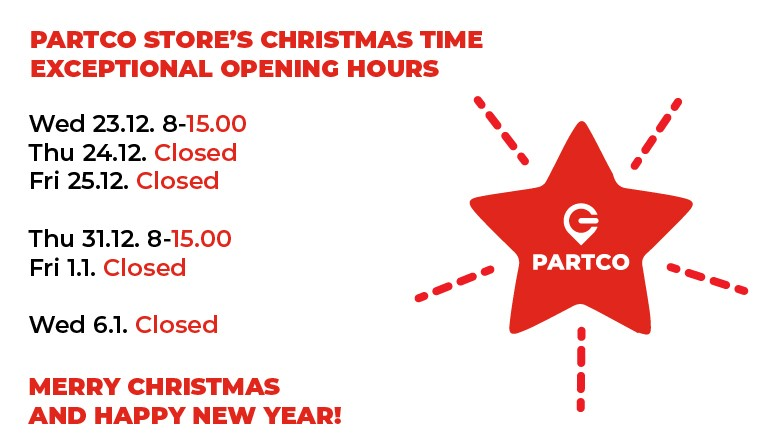 Partco Christmas Time Opening Hours
