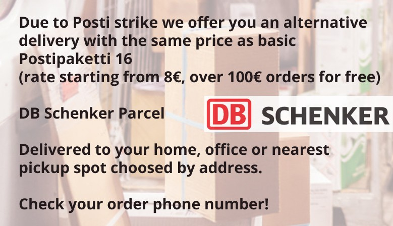 Package deliveries using DB Schenker during Posti strike