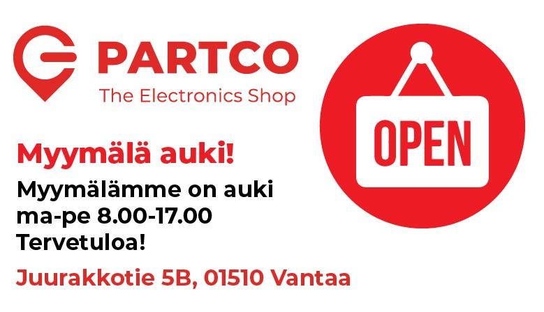 Myymälä avoinna 8.6. alkaen